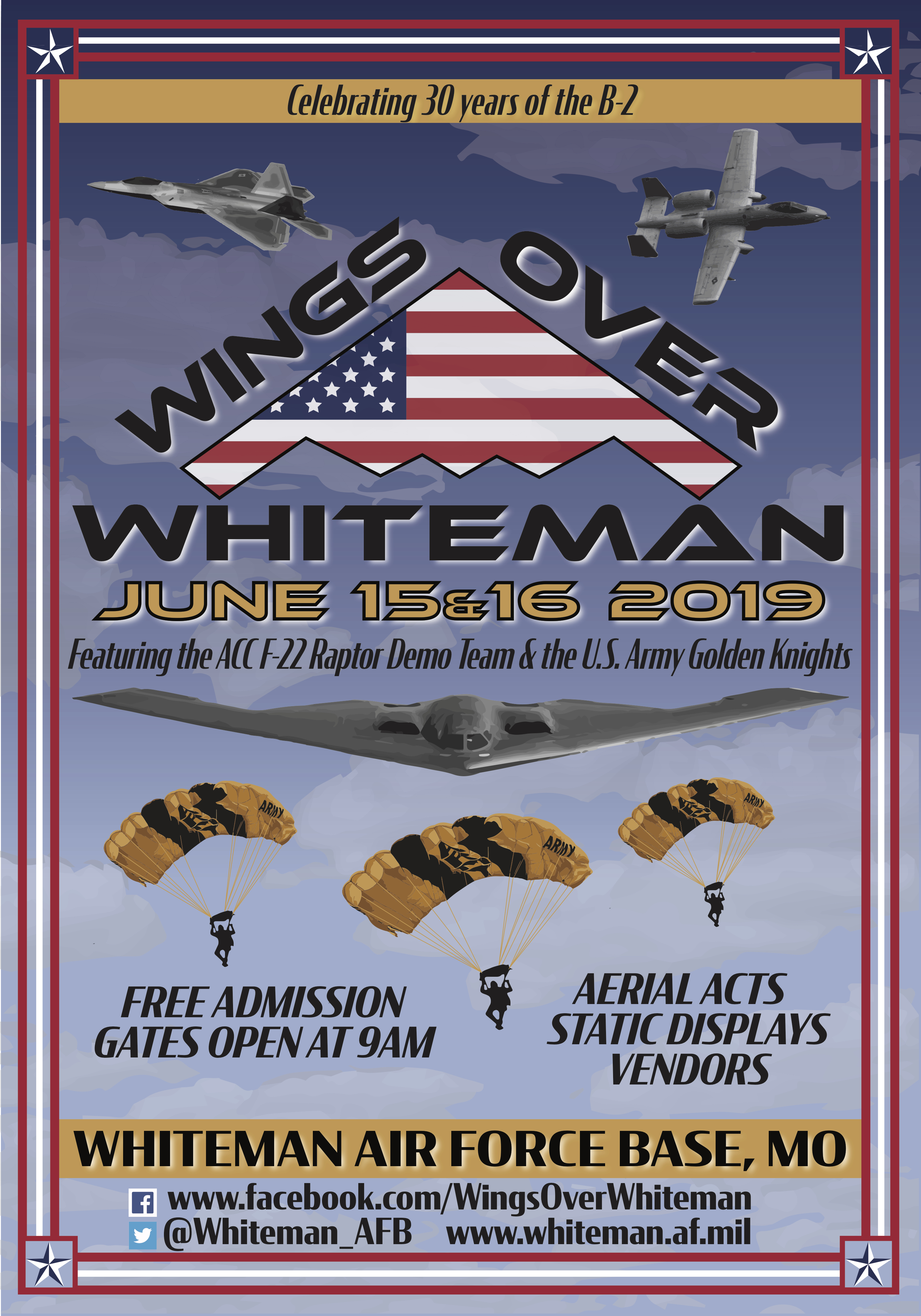 Wings over Whiteman Airshow Poster